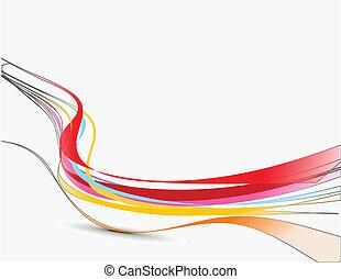 抽象的, 線, 波