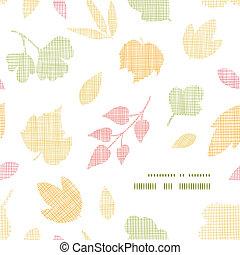 抽象的, 織物, 手ざわり, 秋休暇, フレーム, コーナー, パターン, 背景