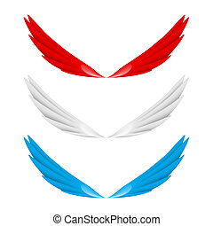 抽象的, 翼, カラフルである