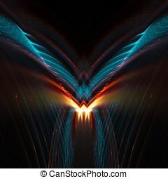 抽象的, 翼, 未来派