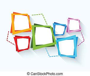 抽象的, 背景, ∥で∥, カラフルである, 正方形