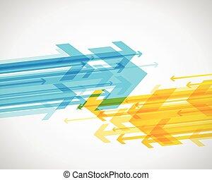 抽象的, 背景, ∥で∥, カラフルである, arrows.