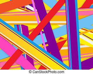抽象的, 背景, ∥で∥, カラフルである, lines.
