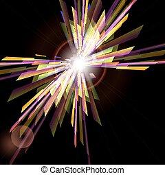 抽象的, 背景, ∥で∥, ライト, burst.