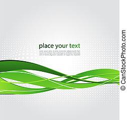 抽象的, 背景, ∥で∥, 緑, 波