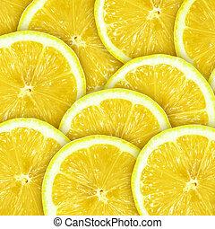 抽象的, 背景, ∥で∥, citrus-fruit, の, レモン切れ