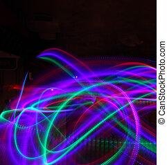 抽象的, 背景, の, 引っ越し, カラフルである, ライト