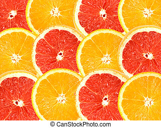 抽象的, 背景, の, 柑橘類, に薄く切る
