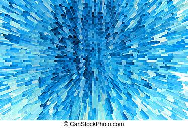 抽象的, 背景, の, 青, ブロック