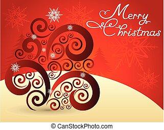 抽象的, 背景, クリスマス, 創造的, 芸術的