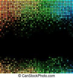 抽象的, 背景, ライト, ディスコ, 多色刷り