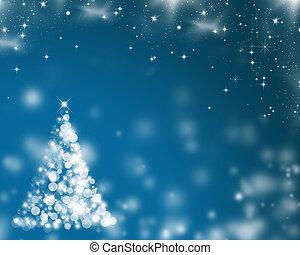 抽象的, 背景, ライト, 休日, クリスマス