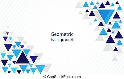 抽象的, 背景, 三角形, 現代, 幾何学的