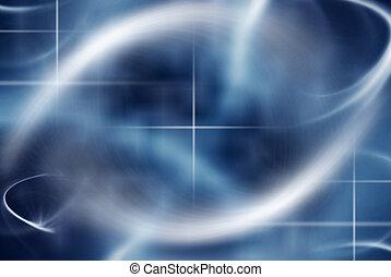抽象的, 背景, 中に, ほのかな青