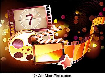 抽象的, 背景, 映画館