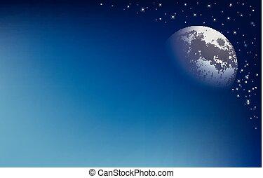 抽象的, 背景, 月