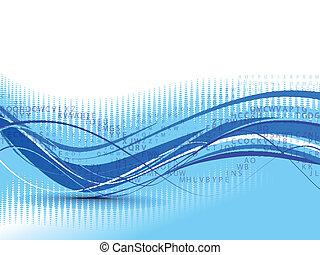 抽象的, 背景, 構成, 波