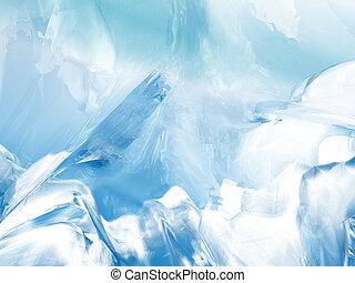 抽象的, 背景, 氷河