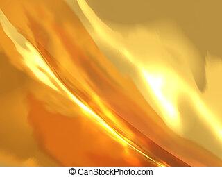 抽象的, 背景, 白熱, 金, ∥で∥, 火, 効果