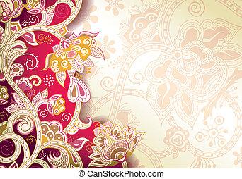 抽象的, 背景, 花