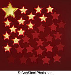 抽象的, 背景, 金, 星