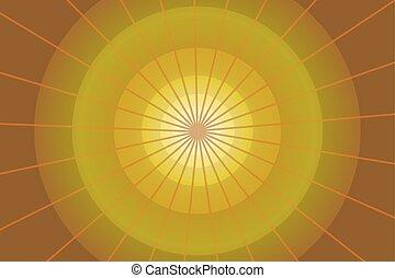 抽象的, 背景, 黄色, 円