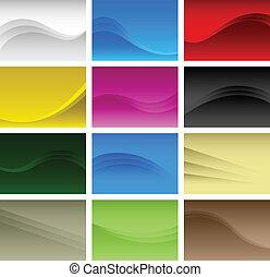抽象的, 背景, a4, ベクトル, 波