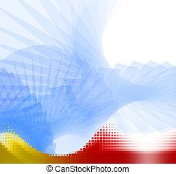 抽象的, 背景, composite-cyberblue