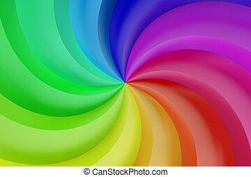 抽象的, 色, らせん状に動きなさい, 背景
