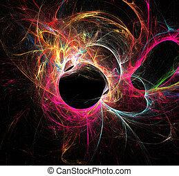 抽象的, 色, パターン, の, 動き, ネオンライト
