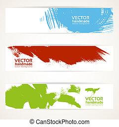 抽象的, 色, ベクトル, 旗