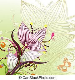 抽象的, 花のパターン