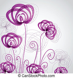 抽象的, 花, すみれ