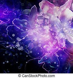 抽象的, 花, イラスト