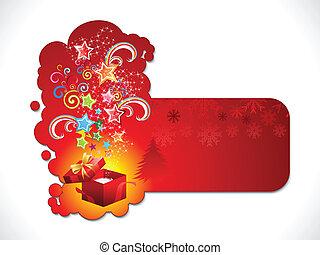 抽象的, 芸術的, ステッカー, クリスマス