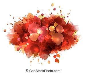 抽象的, 芸術的, 背景, 赤