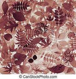 抽象的, 葉, 自然, 背景