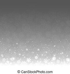 抽象的, 薄片, 雪, 背景