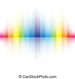 抽象的, 虹の色, 背景