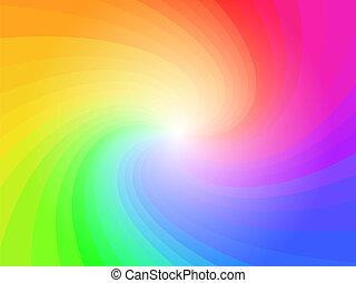 抽象的, 虹, カラフルである, パターン, 背景