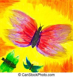 抽象的, 蝶