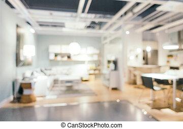 抽象的, 装飾, ぼやけ, 倉庫, 店, 家具