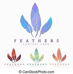 抽象的, 要素, polygonal, feather., デザイン, ロゴ, 鳥