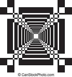 抽象的, 見通し, トンネル, 階段, 錯覚, 背景