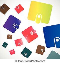 抽象的, 財布, background: