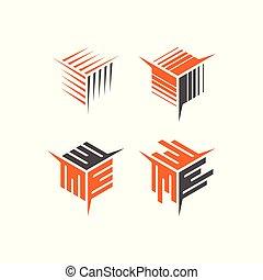抽象的, 貯蔵, 箱, ベクトル, アイコン, ロゴ