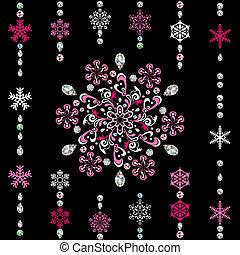 抽象的, 贅沢, 雪片