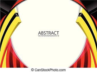 抽象的, 赤い黄色, 黒, 現代, 背景