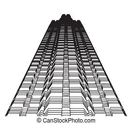 抽象的, 超高層ビル, 建築物