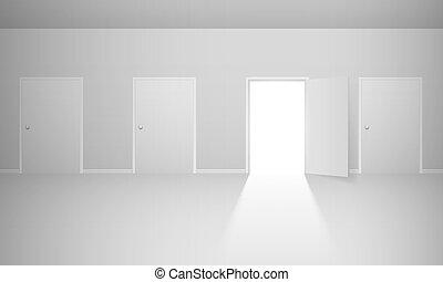 抽象的, 部屋